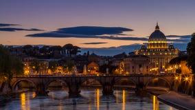 StPietro, Rome, Zonsondergang stock afbeelding