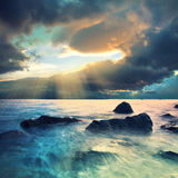 Stpormy clouds. Stormy clouds over the sea coastline Stock Image