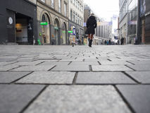 Strøget街道,哥本哈根丹麦 图库摄影