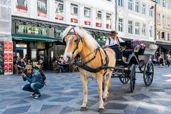 Strøget, центр города Копенгагена Стоковая Фотография