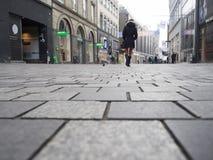 Strøget-Straße, Kopenhagen Dänemark Stockfotografie