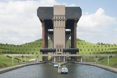 Strépy-Thieu,比利时 免版税库存照片