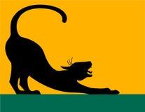sträckning för katteps-silhouette Fotografering för Bildbyråer