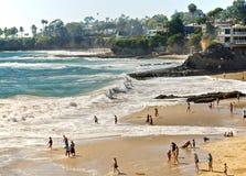 Strände und Buchten, Laguna Beach Kalifornien lizenzfreies stockfoto