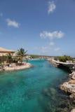 Strände und Erholungsorte von Curaçao stockbild