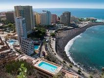 Stränder av Puerto de la Cruz, Tenerife, Spanien Royaltyfri Bild