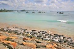 Stränder av Sri Lanka Arkivfoto