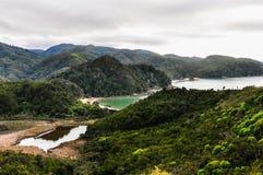 Stränder i Abel Tasman National Park, Nya Zeeland Royaltyfria Foton