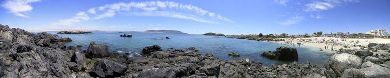 Stränder och hamn nära Bahia Inglesia, Caldera, Chile arkivfoton
