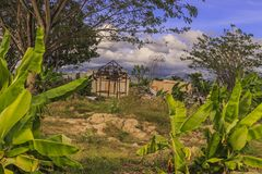 Sträng skada från jordskalv- och smältningnaturkatastrofer royaltyfri bild