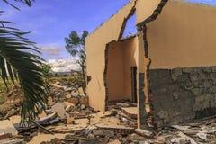 Sträng skada från jordskalv- och smältningnaturkatastrofer royaltyfria foton