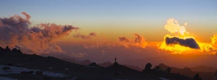 sträng solnedgång Arkivbilder