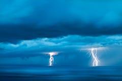 Sträng thunderstorm Fotografering för Bildbyråer