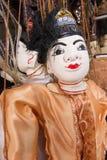 Stränga den Burmese dockan, Myanmar traditionsdockor i den Myanmar souvenir shoppar Royaltyfri Foto
