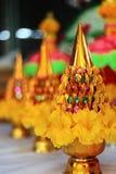 Sträuche, Blumen, goldenes Tellersegment Lizenzfreie Stockfotos