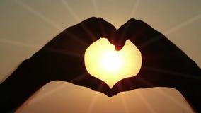 Strålar av förälskelse stock video