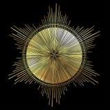 Strålar av ljus som en gloria Hand dragen isolerad vektorillustration royaltyfri illustrationer