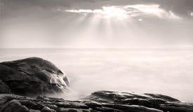 Strålar av solen Arkivbilder