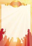 strålar för belen hälsningsbokstav stock illustrationer