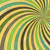 strålar för Retro Swirl för 60-tal70-tal skraj Wild spirala Royaltyfria Bilder