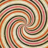 strålar för Retro Swirl för 60-tal70-tal skraj Wild spirala Royaltyfri Fotografi