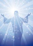 STRÅLAR JESUS 1 royaltyfri illustrationer