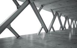 Strålar och konkret struktur Arkivfoton