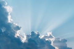 strålar sun overkligt Arkivbilder