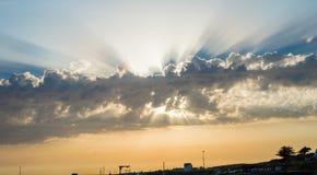 Strålarna av solen Arkivfoto