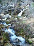 Strålarna av världsfloden i toppiga bergskedjan de Alcaraz Arkivbilder