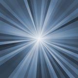 Strålbakgrunden med ljus brast i mitt vektor illustrationer
