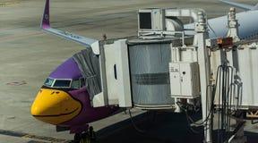 Strålbro till Nokair Airlane arkivfoton