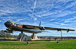 Stråle för bombplan B-52 på kapellet för Förenta staternaflygvapenakademi på Colorado Springs Arkivfoto