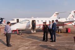 Stråle för CAEA-flyg P180 Arkivfoton
