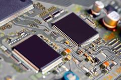 stråle för effekt för brädeströmkretsclose elektronisk upp x arkivbilder