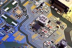 stråle för effekt för brädeströmkretsclose elektronisk upp x royaltyfria bilder