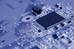 stråle för effekt för brädeströmkretsclose elektronisk upp x Royaltyfri Fotografi