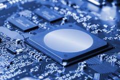 stråle för effekt för brädeströmkretsclose elektronisk upp x Arkivfoton
