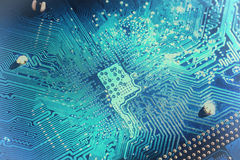 stråle för effekt för brädeströmkretsclose elektronisk upp x Royaltyfri Foto