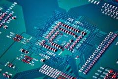 stråle för effekt för brädeströmkretsclose elektronisk upp x Arkivbild