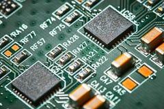 stråle för effekt för brädeströmkretsclose elektronisk upp x Fotografering för Bildbyråer