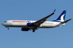 Stråle för TC-SCK Anadolu, Boeing 737-800 Arkivfoto