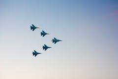 Strålkämpar på airshowen Royaltyfria Bilder