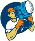 strålkastare för lighting för lagsfilmholding stock illustrationer