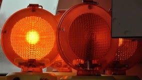 Strålkastare för orange ljus arkivfilmer