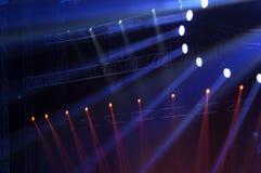 Strålkastare med laser-strålar Fotografering för Bildbyråer