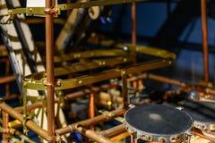 Strålkastaresystem med metalliska stänger Mekanism och teknisk equ Royaltyfri Bild