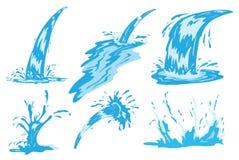 strålsprayvatten royaltyfri illustrationer