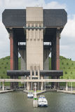 Strépy-Thieu boat lift in the Canal du Centre, Wallonia, Belgium. Royalty Free Stock Image