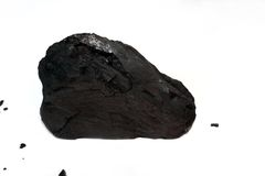 Strój Jednoczęściowy bitumiczny węgiel na bielu Zdjęcie Royalty Free